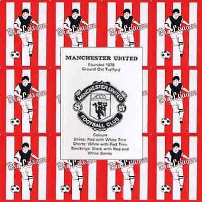 Tarjeta de fútbol único bertcord Big League Southampton-varios jugadores