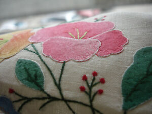 Swedish embroidered Table runner in linen