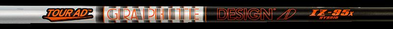 nouveau GRAPHITE DESIGN TOUR AD IZ-95 EXTRA STIFF ( X ) FLEX HYBRID WITH .370  TIP