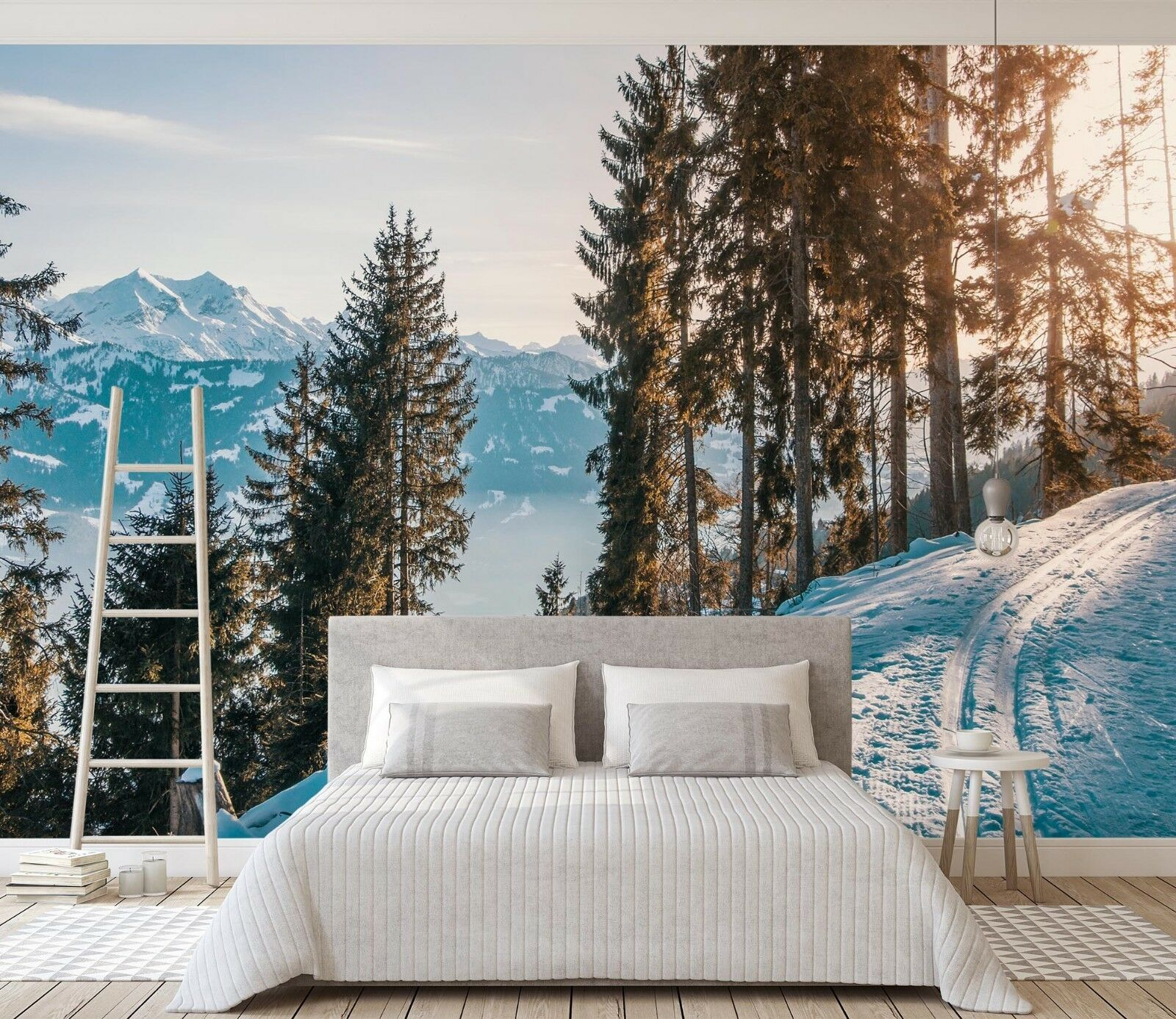 3D Snow Forest 983 Wall Paper Murals Wall Print Wall Wallpaper Mural AU Summer