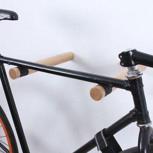 Design Fahrrad Wandhalterung Holzstabe Wandmontage Robust 35 X O 4