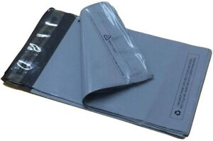 15-x-18-034-Grey-Plastic-Mailing-Bags-Post-Poly-Postage-Self-Seal-Strip-Pack-of-100