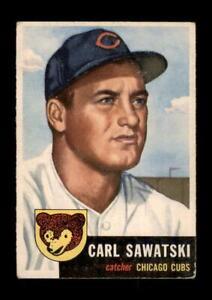 1953 Topps Set Break #202 Carl Sawatski VG-VGEX (crease) *GMCARDS*