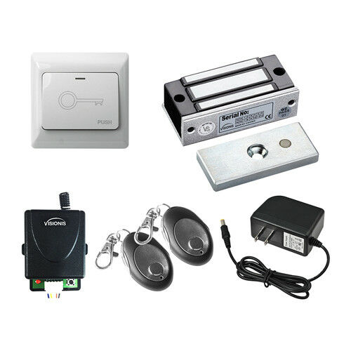 Visionis One Door Buzzing MagLock Kit with Wireless Receiver and Exit Button