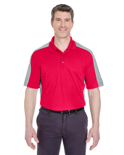 UltraClub Mens Cool /& Dry Stain-Release 2-Tone Polo Shirt 8447
