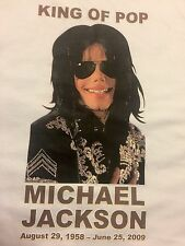 New Ecko Unltd Micheal Jackson King Of Pop Aug 29, 58 -June 25, 09 T-shirt Large