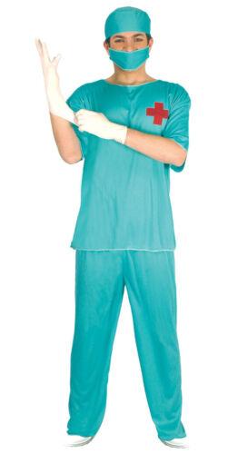 OP Chirurg Fasching Karneval Motto Party Kostüm für Herren Doktor Arzt grün M-XL