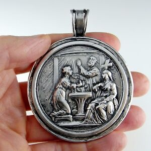 medallion medallions russian pendants holy baptism and orthodox gold baptismal archangel silver gabriel