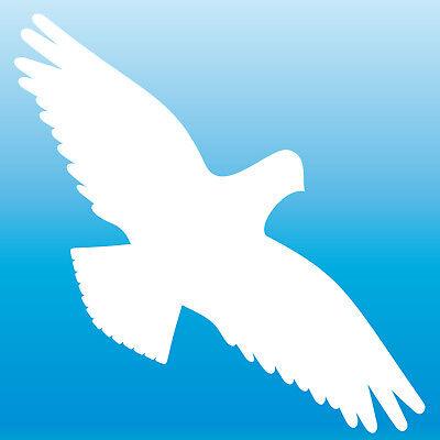 Warnvogel Adesivo 30cm Bianco Storpi Uccelli Schreck Protezione Finestra Decorazione Pellicola-