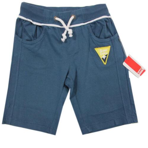 Kanz Hosen kurz Hose Joggingshorts Bermuda Jungen Blau Baumwolle Gr.86 128
