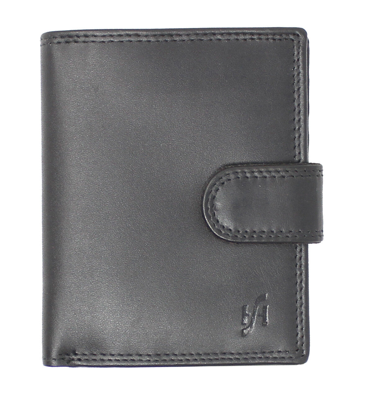 Unisex Genuine Soft Leather Wallet With Side Zip Coin Pocket