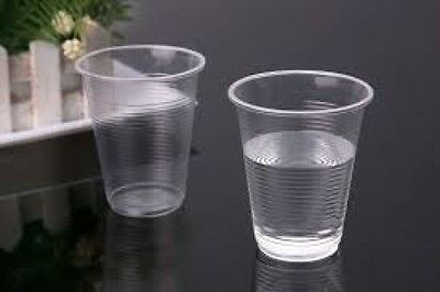 500 x CLEAR PLASTIC DISPOSABLE CUPS - PERFECT FOR A PARTY - WATERCOOLER