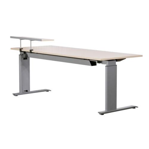 BENE höhenverstellbarer Schreibtisch Arbeitsplatz Bürotisch 200 cm Ahorn