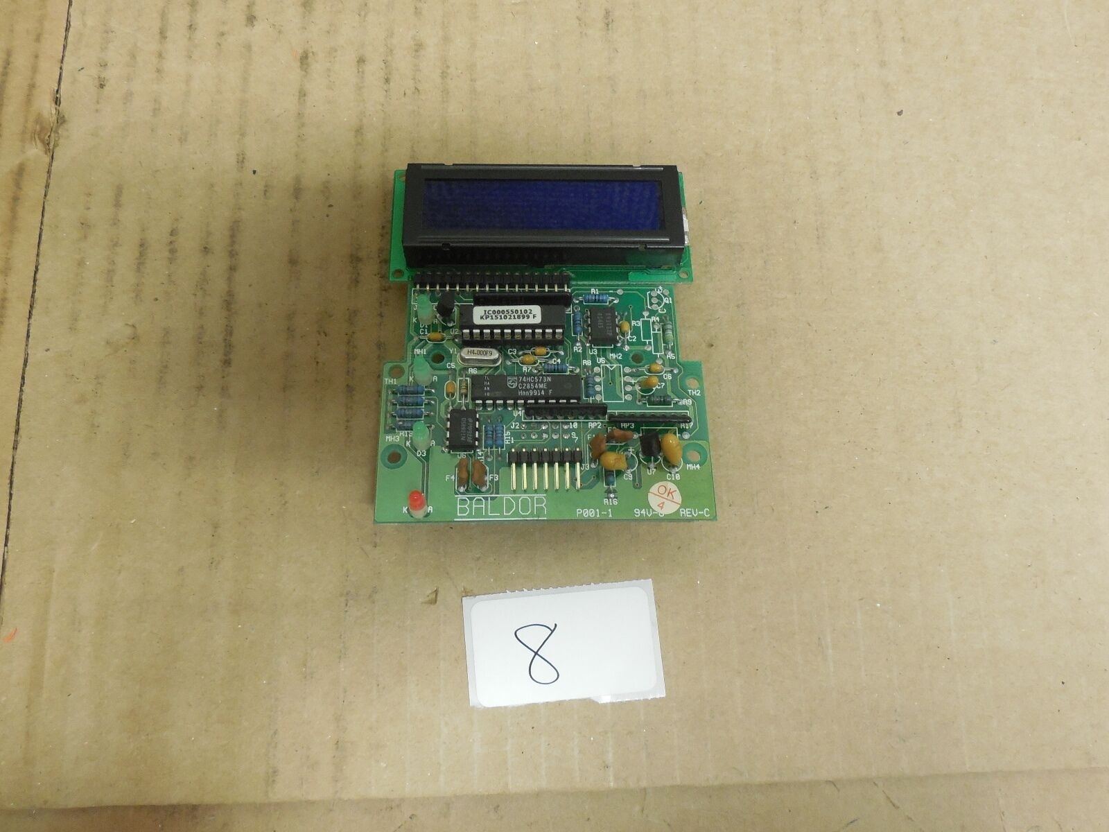 BALDOR CIRCUIT BOARD P001-1 REV C FOR DRIVE DISPLAY P191-2A
