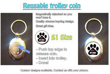 I LOVE (HEART) MY DOG - REUSABLE £1 SHOPPING TROLLEY TOKEN - GREAT GIFT IDEA