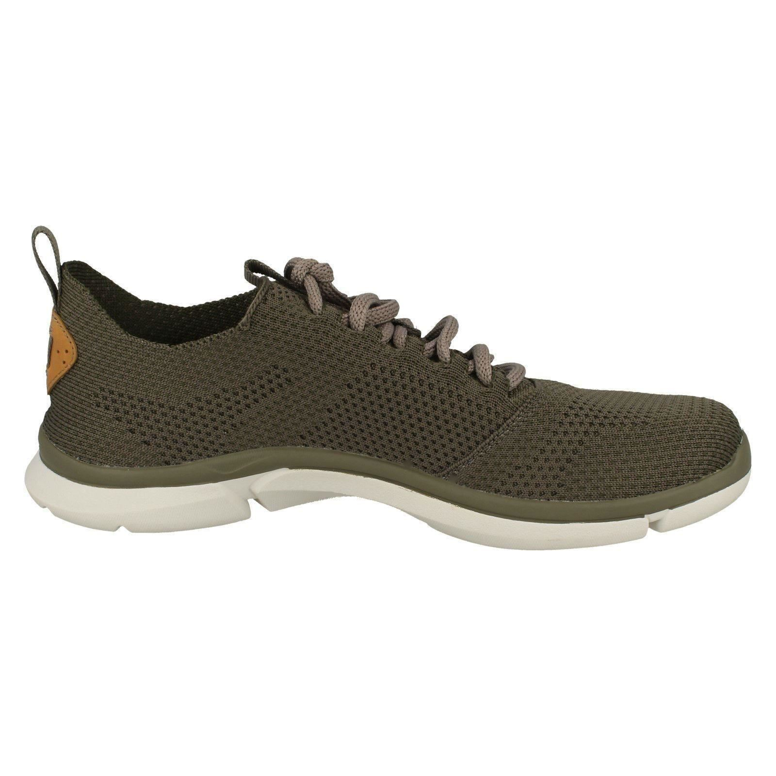 Mens Casual Clarks Triken Run Casual Mens Textile Lace Up Trainers 937d70