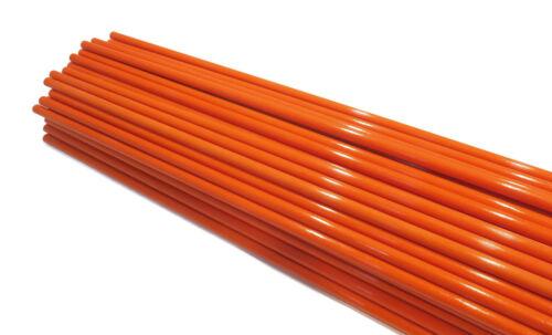 Pack of 10 Pathway Sticks 48 inches long Fiberglass 5//16 inch Orange