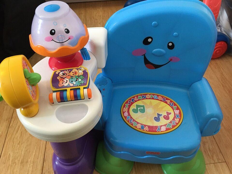 Musikstol med lyd og lys, Fisher-Price, andet babylegetøj