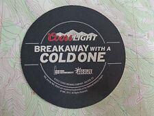 2012 Beer Bar COASTER ~ COORS Brewing Light ~ Official NHA Hockey League Sponsor