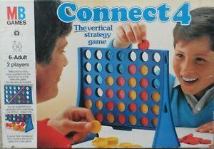 Vintage MB Jeux CONNECT 4 1984 Complet et en bon état
