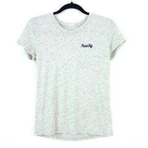 Brandy-Melville-John-Galt-Peachy-T-Shirt-OS-S-Grey-Heathered-Embroidered