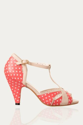 Red Norma Polkadots Dancing Shoes Banned Apparel