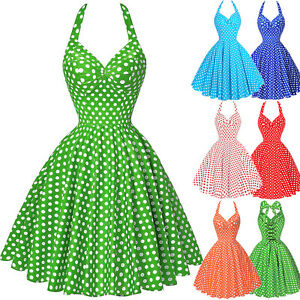 NEUF-ados-filles-pois-annees-1950-annees-60-robes-Vintage-SWING-PIN-UP