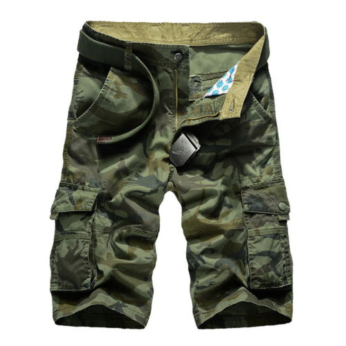 Fashion Mens Camouflage Casual Shorts Multi-Pocket Summer Beach Loose Pants 44