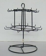 SPINNING WIRE JEWELRY DISPLAY RACK  > BLACK WIRE DISPLAY > 2 LEVELS