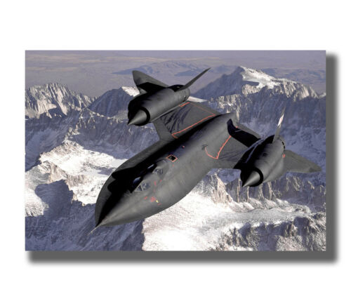 Fighter SR-71 Blackbird Famous Spy Plane Fabric Poster Art TY194-30 24x36 Inch