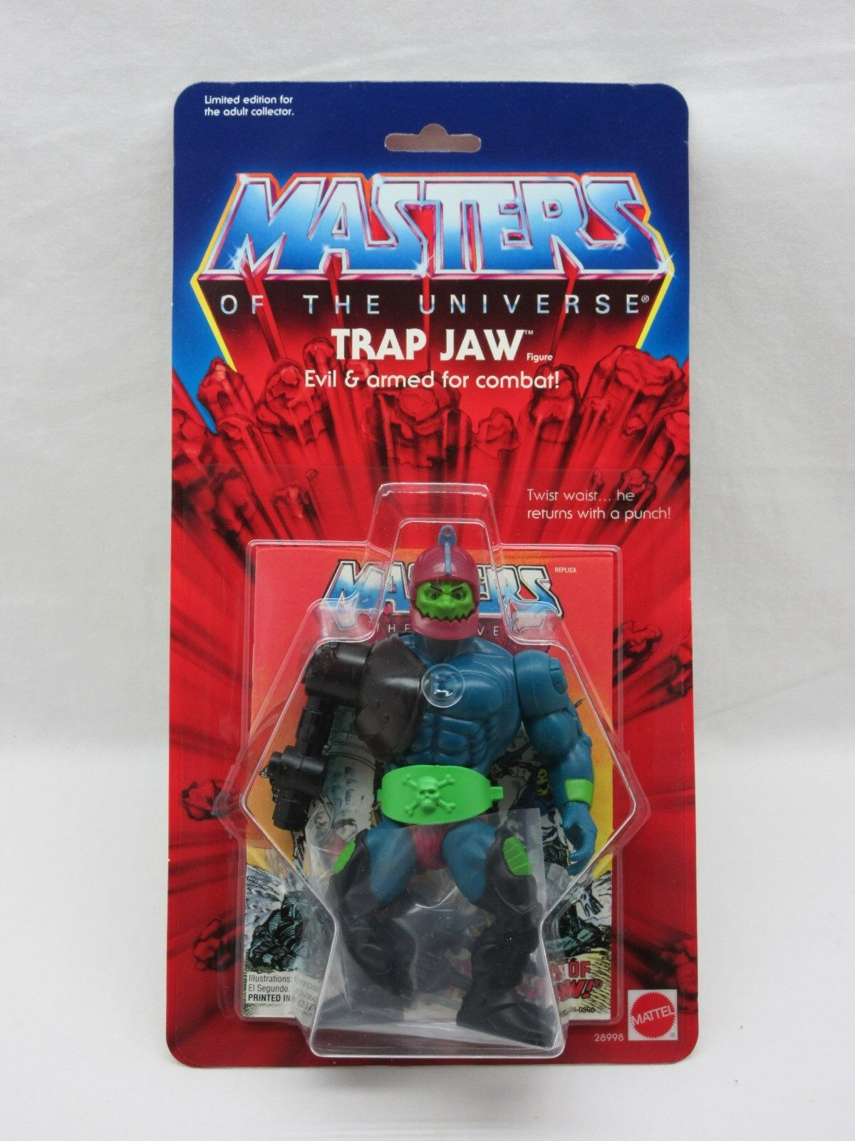 MOTU,Commemorative TRAP JAW,MISB,MOC,sealed,Masters of the Universe,He Man