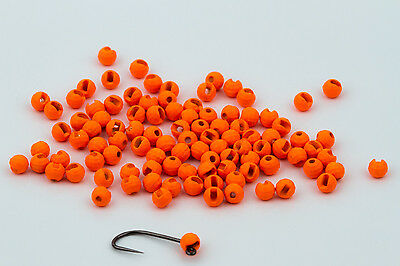 Various Sizes Fl 25 Tungsten Slotted Disco Fly Tying Beads Orange