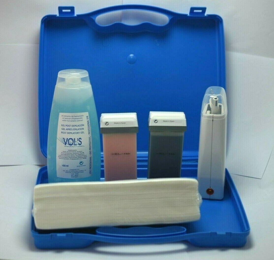 Kit de Depilacion Cera Rollon - Maleta+calentador + 2 rollon+bandas +gel