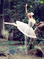 Women Tutu Lyrical Organdy Dress Ballet Ice Skating Dance Costume Adult/Child KU