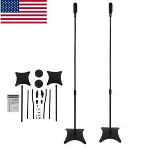 Iron-Universal-Surround-Sound-Speaker-Stands-Set-Of-2-Satellite-Speaker-9-92lbs