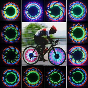 32Pattern LED Cycling Bikes Bicycles Rainbow Wheel Signal Tire Spoke Light Lamp