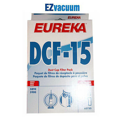 Genuine Eureka DCF 15 Dust Cup Filter Pack Models 5890 5900