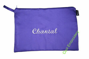 Personalised-XLarge-Drill-pencil-case-31cm-by-22cm-pouch-bag-COLOUR-CHOICE