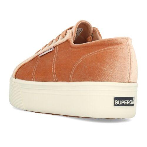 Velvetpolyw Schuhe Weiß Pink Superga Plateau Sneaker Dusty 2790 Orange Coral RxqwFq