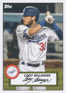 Cody Bellinger 2021 Topps Series 1 1952 Topps Redux #T52-22 Los Angeles Dodgers