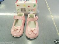Tiny Steps Infant Girls Size 1 Pink Patent Leather Shoes Flats Free Shipping