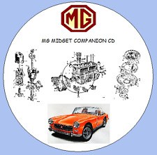 MG Midget Mk.I,II & III 1961-1974 Workshop Manual ,Parts Lists, Wiring Diagrams
