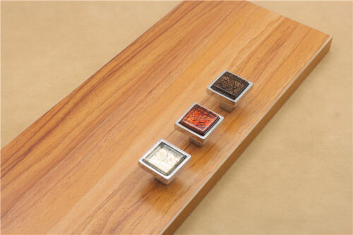 DIY Drawer Cabinet Dimond Pull Handles Door Glass Square Crystal Furniture Knobs