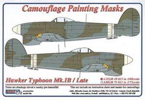 AML 1/48 Hawker Typhoon Mk.Ib/Late version Camouflage Paint Masks # M4915