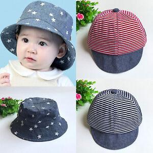 summer hats cute casual striped soft eaves sun hat cap baby boy girl