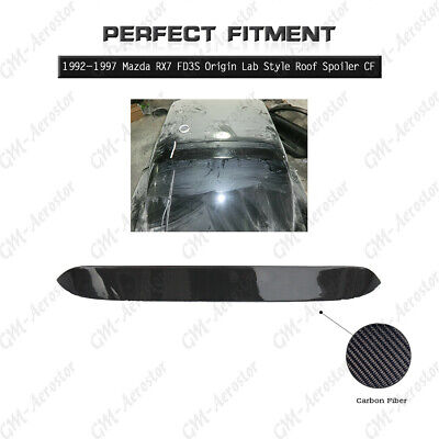 FRP Fiber Glass Wing Fit For 92-97 Mazda RX7 FD3S Origin Lad Style Roof Spoiler