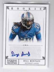 BILL BENTLEY 2012 National Treasures #206 RC Auto Autograph #d /99 Lions