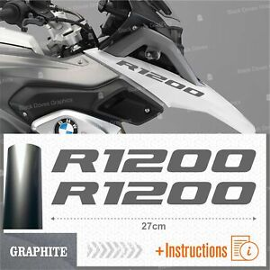 2pcs-Adesivi-Graphite-compatibile-Moto-BMW-R-1200-GS-LC-R1200-ADVENTURE-R1200GS