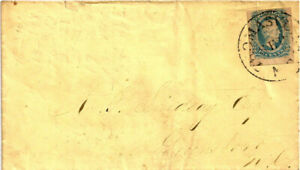 Confederate GENUINE Postal Cover with Stamp