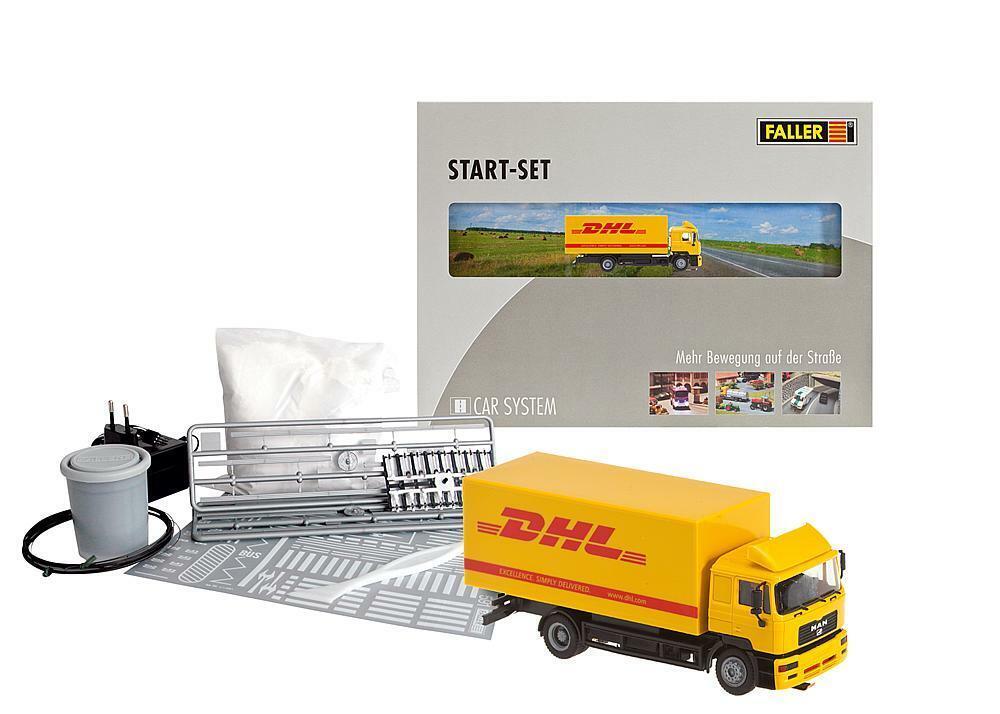Faller Coche System nº 161607 Coche sistema Estrellat-set camiones DHL